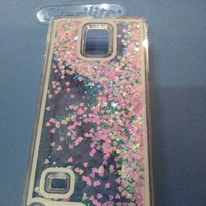 Samsung S4 glitter liquid phone case